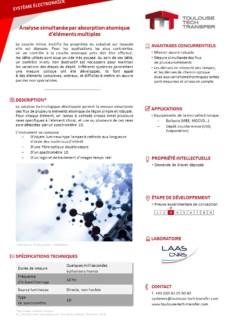 PDF fiche technologique système électronique analyse simultanée par absorption atomique d'éléments multiples