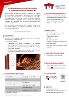 PDF fiche technologique matériaux nanostructurés conducteurs