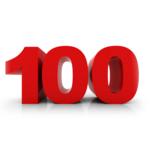 100 3D rouge